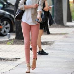 i think i MIGHT wear light pink (well designed skinnys) ..dont ...
