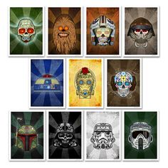 Interesting take on two awesome things. Dia de los muertos and Star Wars