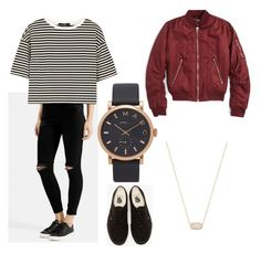 """:))"" by alvakylen on Polyvore featuring Topshop, TIBI, Marc Jacobs, Kendra Scott and Vans"
