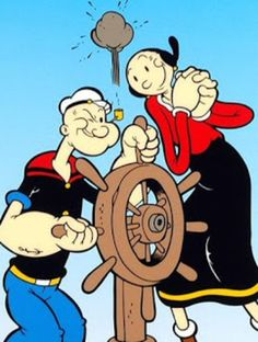 Popeye Et Olive, Popeye Le Marin, Personnages Looney Tunes, Popeye Cartoon, Popeye The Sailor Man, Cartoon Photo, Saturday Morning Cartoons, Old Tv Shows, Classic Cartoons