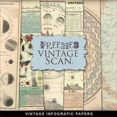 Freebies Kit of Vintage Paper