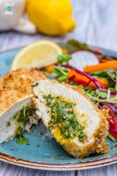 Low Syn Chicken Kievs - Pinch Of Nom, these are so yummy! Diet Recipes, Cooking Recipes, Healthy Recipes, Healthy Meals, Recipies, Fodmap Recipes, Slimming World Chicken Kiev, Slimming World Recipes Syn Free, Slimming World Meals
