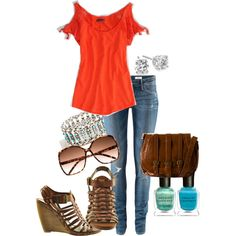 Outfit created by Brooke Johnson on Polyvore (not the shoes)