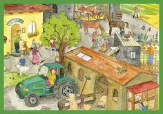 Situationsbilder (Wimmelbilder) zur Sprach‐ und Leseförderung #Sprache #Lesen