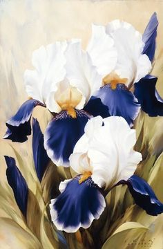 Blue Color Flower Picture Decorative Painting Diy Diamond Painting Cross Stitch Kits Square Dimaond Embroidery Mosaic Making Iris Painting, Painting & Drawing, Art Floral, Watercolor Flowers, Watercolor Paintings, Iris Flowers, Botanical Illustration, Painting Inspiration, Flower Art