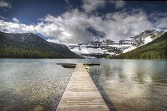 Cameron's Pier is an art print of Waterton Lake National Park.