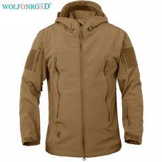 950d447ec87 WOLFONROAD Men Jacket Waterproof Hiking Jacket Coat Tactical Softshell  Jackets Camouflage Shooting Jacket Outdoor Sport Clothing