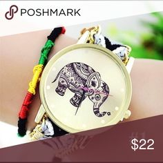 ✨Weave Dreamer Elephant Bohemian Wristwatch Condition: New without tags Movement: Quartz : Battery Gender: Women's Display: Analog Type: Casual Bracelet Wrist Watch Features: Easy To Read Case Material: Alloy Band Material: Knitting Band Length: 22 cm Watch Case Diameter: 3.75 cm Watch Case Thickness: 0.6 cm  Case Shape: Round Weight: 25 - 30 g Package Content: 1 x Watch Accessories Watches
