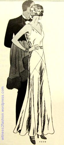 Butterick 3949. Delineator, August 1931. The skirt is based on quadrants and inserted squares used on the bias