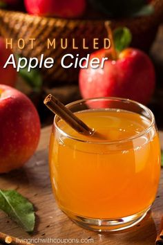 Put all that cider to good use in a delicious hot mulled cider drink!