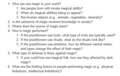 Excellent questions to ask yourself when making a system of magic in your world. I personally like making it at least visually impressive as otherwise I don't think it's very magical.