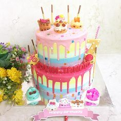 Use Num Noms to decorate a birthday cake! This fan-made cake looks SO delicious!