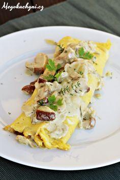 Podzimní omeleta skrémovými houbami