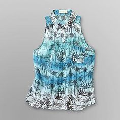 Dream Out Loud by Selena Gomez Junior's Sleeveless Shirt - Palm Print - Clothing - Juniors - Tops