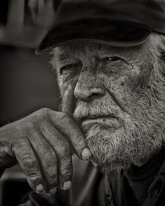 Old fisherman, Skrova, Lofoten #04 by Valbø,  [Norway]: