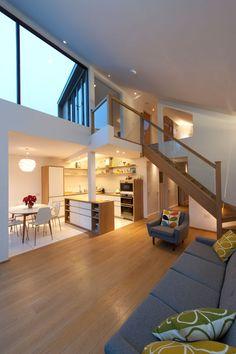 Solen Vinklar, uma extensão de casa contemporânea, projetado por David Blaikie Architects