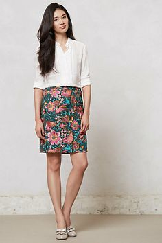 Embroidered Fiore Pencil Skirt #anthropologie