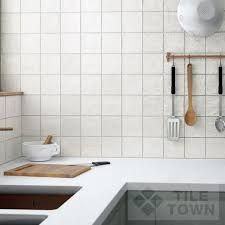 Quarndon White Kitchen Wall This White Coloured Extra Large Metro Captivating Kitchen Wall Tiles Design Inspiration