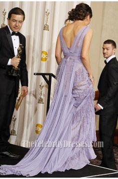 MILA KUNIS 2011 Oscar Lavender Prom Dress Red Carpet Celebrity Gown - TheCelebrityDresses