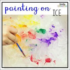 Preschool Process Art for a Winter Thematic Unit: Painting on Ice