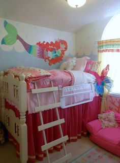 Girls Mermaid Room Makeover !