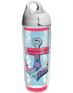 Simply Southern® Anchor With Pearls Wrap With Lid - water bottle Drinking Water Bottle, Cute Water Bottles, Best Water Bottle, Simple Southern Shirts, Southern Outfits, Mason Jar Cups, Preppy Essentials, Cute Cups, Bean Boots