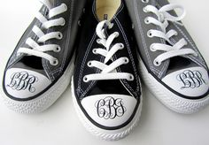 Fab monogrammed Converse Chuck Taylors  <3   swagstamp.com