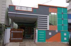 Sunny House Front Wall Design, Single Floor House Design, House Ceiling Design, Home Design Floor Plans, Bungalow House Design, Modern House Design, House Elevation, Front Elevation, 20x30 House Plans
