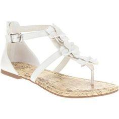 Faded Glory Girls' Gladiator Sandal, Size: 4, White