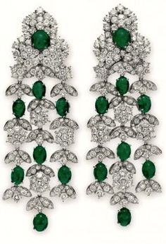 Liz Taylor's Emerald Ear Pendants