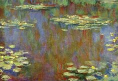 "lonequixote: "" Water Lilies, 1907 ~ Claude Monet """