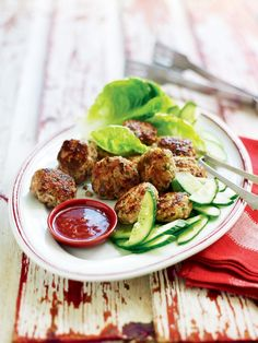 This spicy pork recipe make a fantastic starter, snack or canapé, and can be frozen in advance.