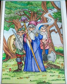 Creative Haven Fantasy Designs - done with colored pencils.