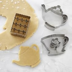 Williams Sonoma Tea Time Impression Cookie Cutter Set #williamssonoma