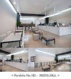 A Coffee Company Space Interiors, Shop Interiors, Coffee Shop Design, Cafe Design, Cafe Floor Plan, Coffee Store, Coffee Iv, Cafe Counter, Interior Architecture