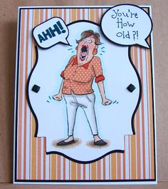 Art Impressions Rubber Stamps: Ai People: AHH Set (Sku#4671) ... handmade card. humorous, funny