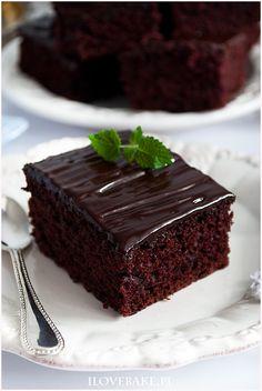 Ciasto czekoladowe bez jajek - I Love Bake