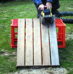 let the children play: experimenting with ramps at preschool milk crates for outdoors