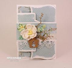 Hallo allemaal, Van mij vandaag een kaartje met de Fold Card Art-Ornament. Een leuk model met drie delen om te versieren. Ik heb...