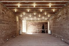 love exposed bricks. and these lights are perfect for low ceiling.