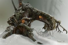 a small forest home by Hagge.deviantart.com on @DeviantArt Fairy Land, Fairy Tales, Fairy Houses, Garden Houses, Tree Houses, Forest House, True Art, Craft Work, Great Pictures