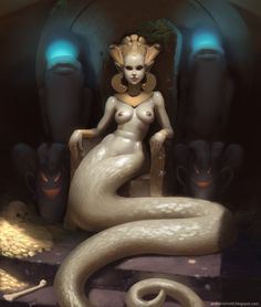 Naga-Kanya (The Snake Queen). It's easy to find sexualized female fantasy characters.