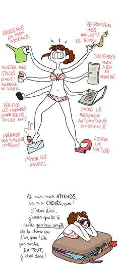 Des défis de partir en vacances ! Pénélope Bagieu