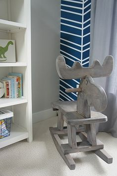 Project House to Home: Handmade Moose Rocker, nursery ideas, DIY nursery ideas