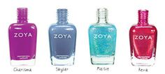 Nail polishes I just ordered with today's Zoya promo!