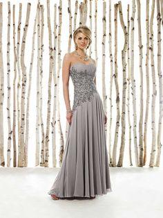 A-line/Princess Sweetheart Chiffon Sleeveless Floor-length Applique Mother of the Bride Dresses  $126 wishesget.com