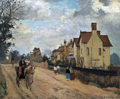Pissarro, Camille (French, 1830-1903) - Street in Upper Norwood - 1871 | Flickr - Photo Sharing!