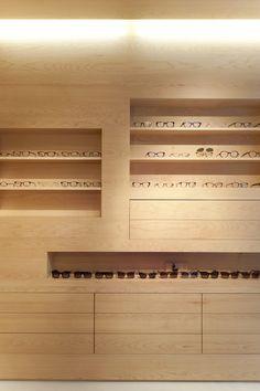 La Galerie de Lunettes optics store in Paris by Dumazer & Lafallisse Architectes