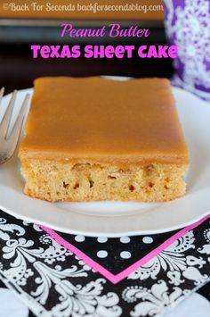 The BEST Peanut Butter Texas Sheet Cake Recipe - the frosting is out of this world!! #sheetcake #peanutbutter #dessert