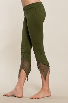 Pointy Pixie leggings - Perfect Yoga Pants - Fairy Tights Made from gorgeous cotton jersey these are by far our best selling pixie leggings for years., these leggings will keep their shape for wash after wash. Perfect for Yoga , everyday use , pixie parties and much more... They have Hip